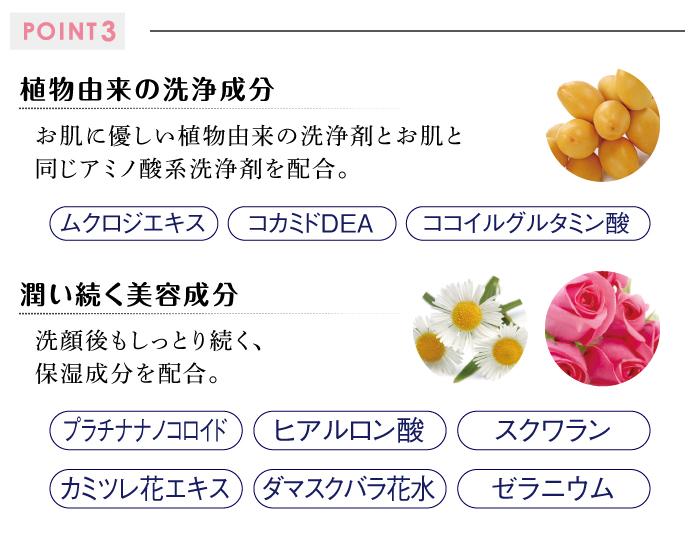 POINT3洗浄成分美容成分
